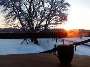 En kaffe på verandan
