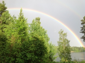 Regnbågen över sjön Tibon